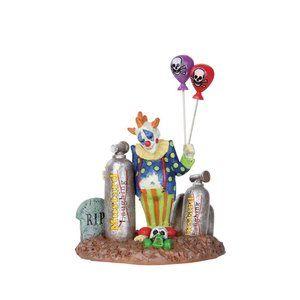Lemax Balloon Clown Figurine for Halloween Village